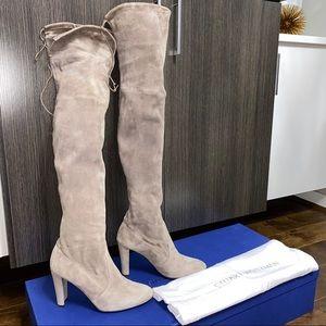 Stuart Weitzman Highland Topo Taupe Boots size 7.5
